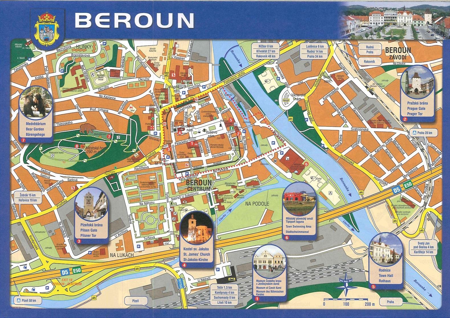 mapa Beroun-kultura